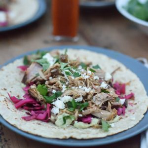 Smoked Slow Cooker Pork Tacos