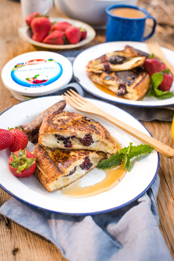 Easy Camping Breakfast: Stuffed French Toast