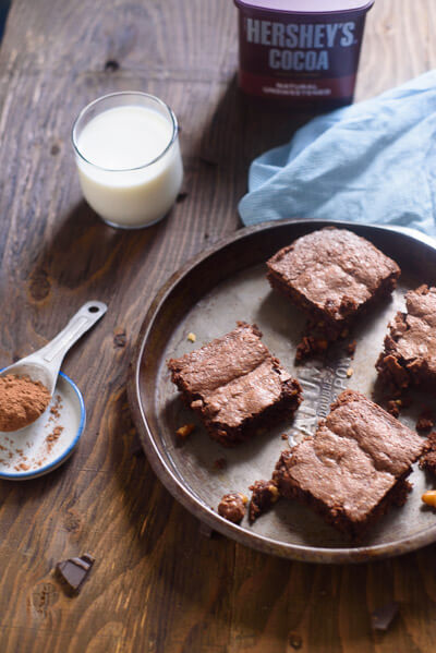brownies from scratch with cocoa powder