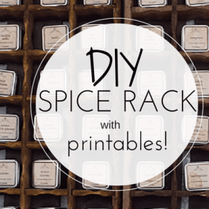 DIY Spice Rack Printables
