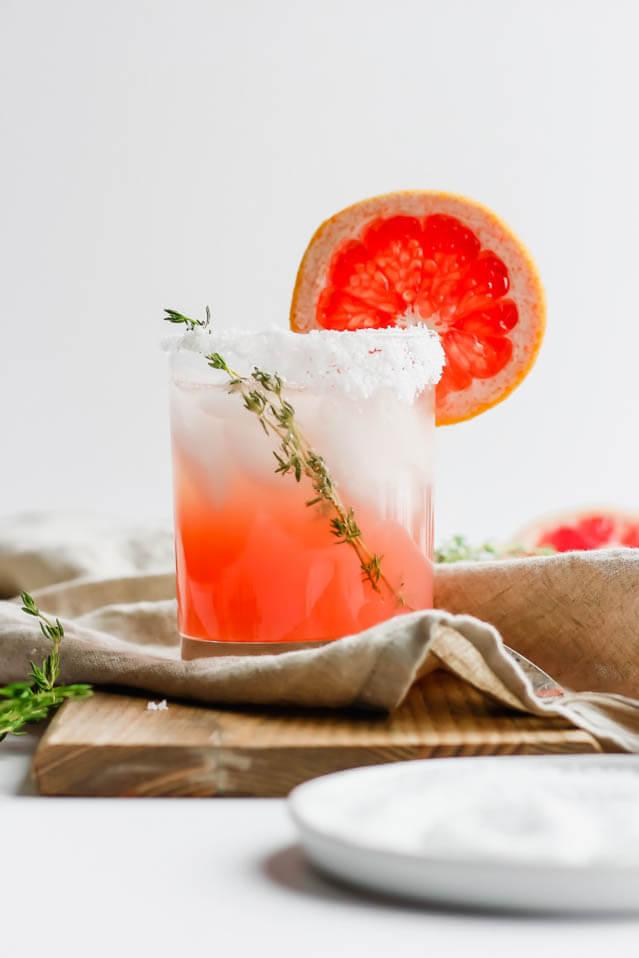 Citrus Paloma Mocktail Thyme, 101 New Years Food Ideas