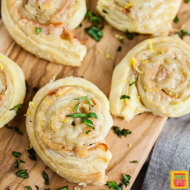 Prosciutto Pinwheels, 101 New Years Food Ideas