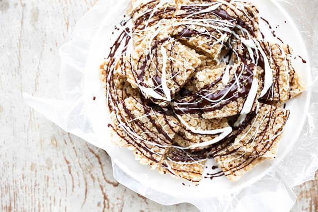 Champagne Marshmallow Treats, 101 New Years Food Ideas