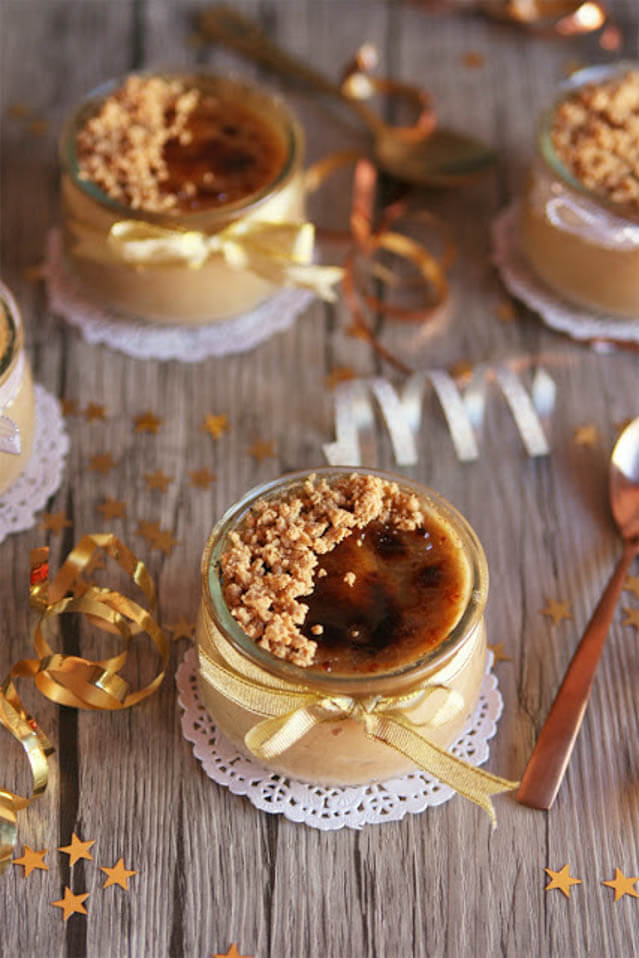 soft nougat creme brulee, 101 New Years Food Ideas