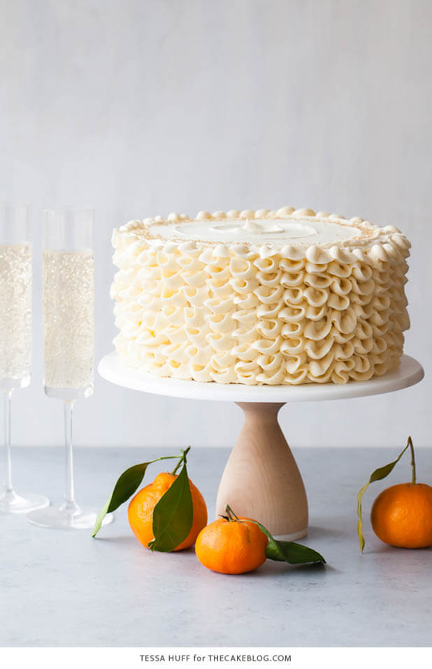 Champagne Mimosa Cake, 101 New Years Food Ideas