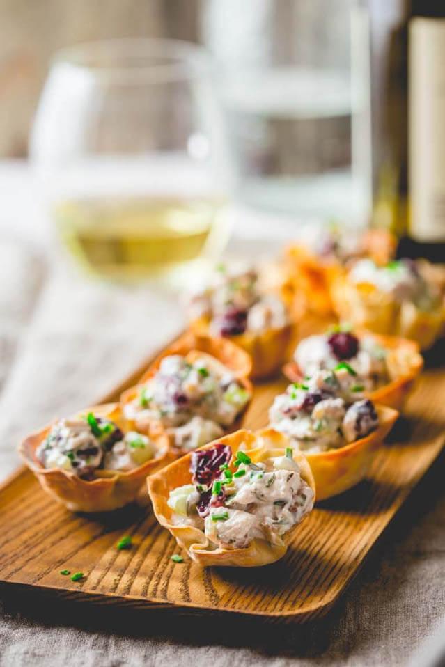 15 minute chicken salad bites, 101 New Years food ideas