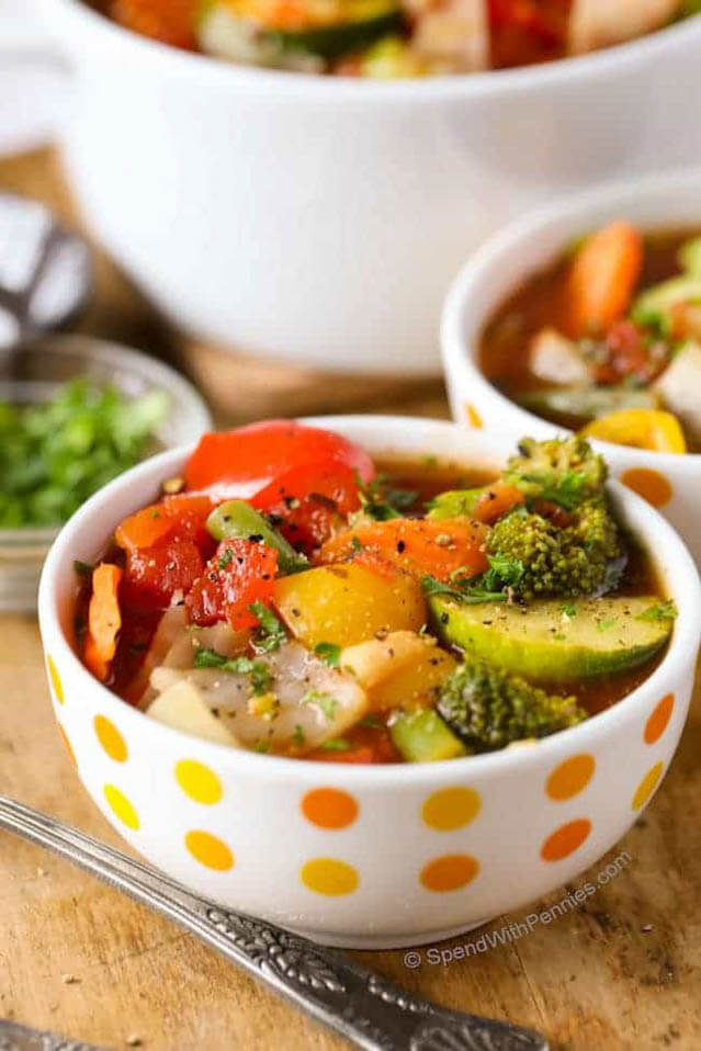 Vegetable Soup Recipe, 101 New Years Food Ideas