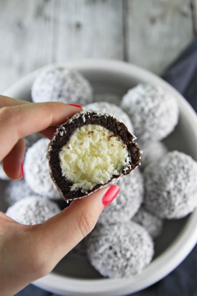 Coffee Rum Coconut Bites, 101 New Years Food Ideas