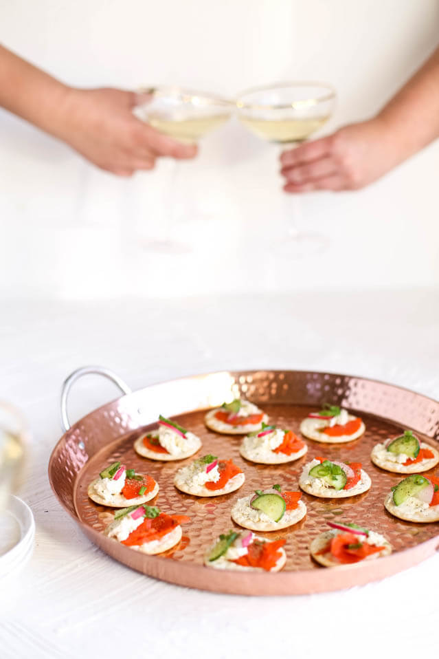 Smoked Salmon and Whipped Cheese Cucumber Bites, 101 New Years Food Ideas