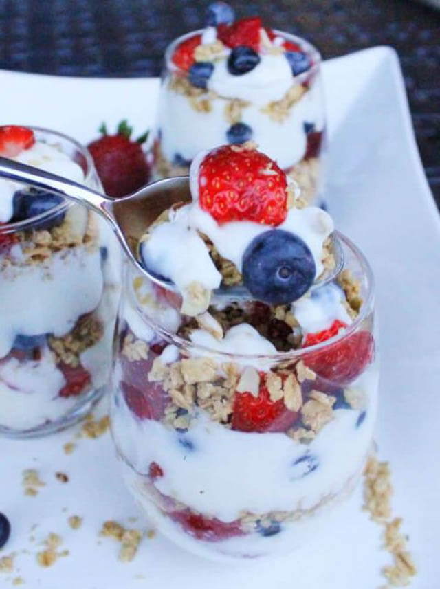 yogurt parfait easy camping breakfast, 101 Stress Free Camping Food Ideas