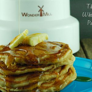 The Best Whole Grain Pancake Recipe & Wondermill Giveaway!!