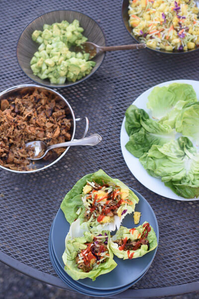 pulled-pork-lettuce-cups