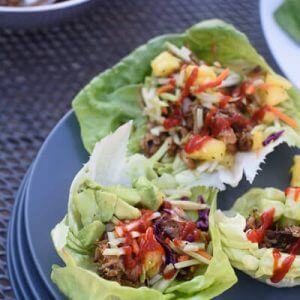 Asian Pulled Pork Lettuce Wraps