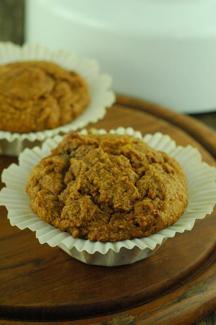 A light, moist spiced pumpkin muffin perfect for coffee or snacking.
