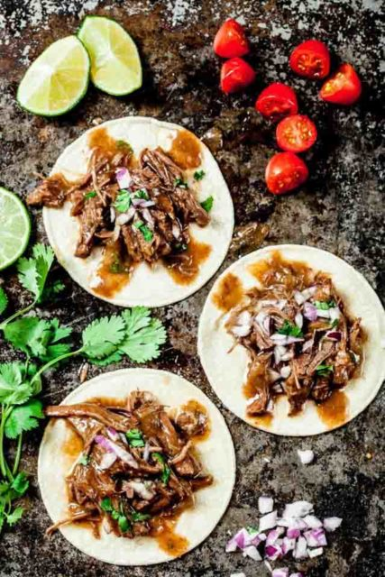 slow cooker Mexican shredded beef
