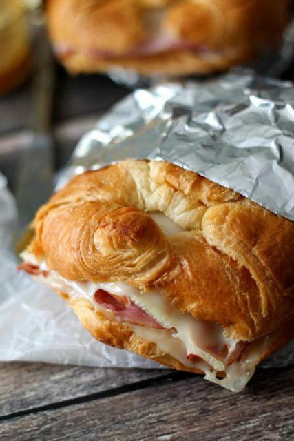Hot Ham Swiss Croissants