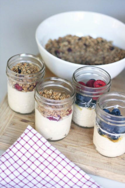 make ahead yogurt parfaits recipe
