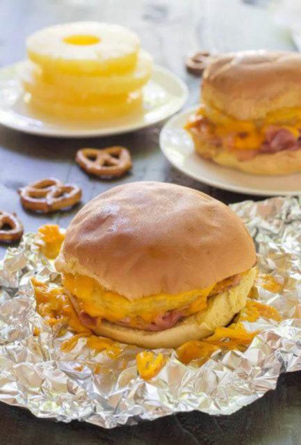 Campfire Recipe Ham Pineapple Sandwich