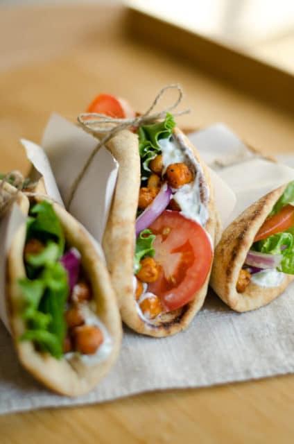 Roasted Chickpea Gyros Recipe