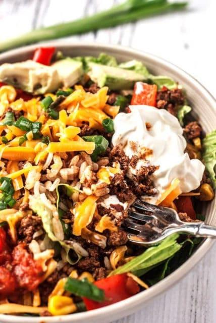 Easy Taco Rice Bowls Recipe