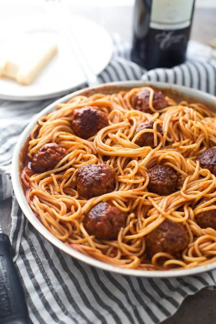 Six Ingredient Spaghetti Meatballs Recipe