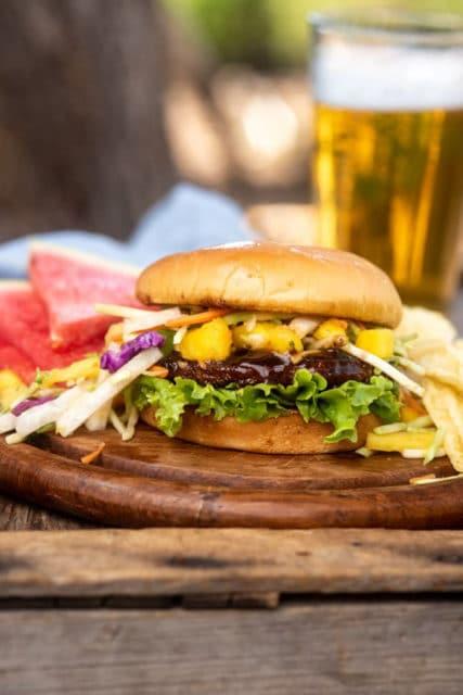 Jamaican Black Bean Burgers with Mango Jicama Slaw Recipe