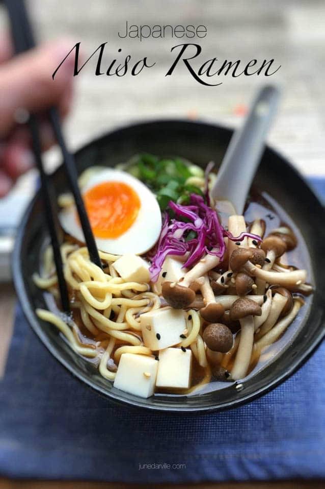 Japanese Miso Ramen, 52 Ramen Recipes to Keep You Warm
