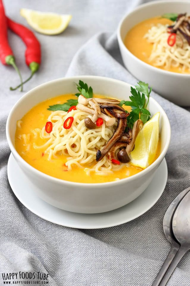 Spicy Thai Pumpkin Soup, ramen soup recipe