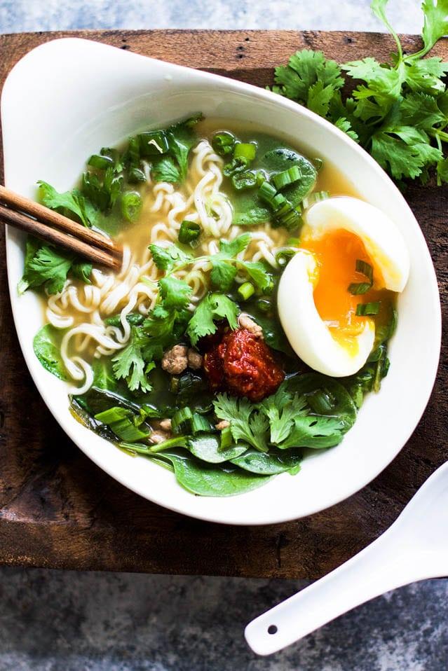 Delicious Pork and Spinach Miso Ramen, 52 Ramen Recipes to Keep You Warm