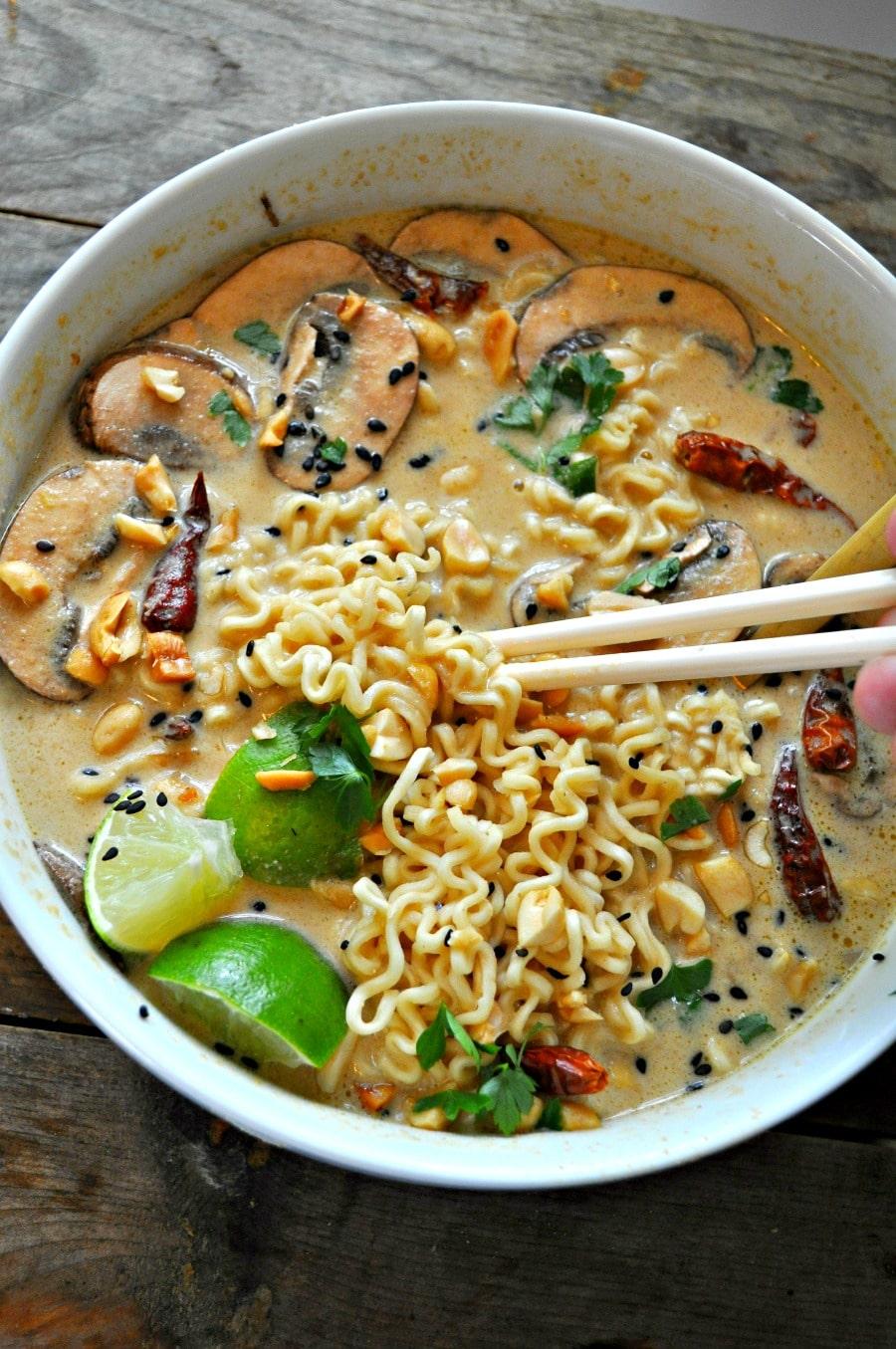 Vegan Spicy Thai Peanut Ramen, ramen soup recipes