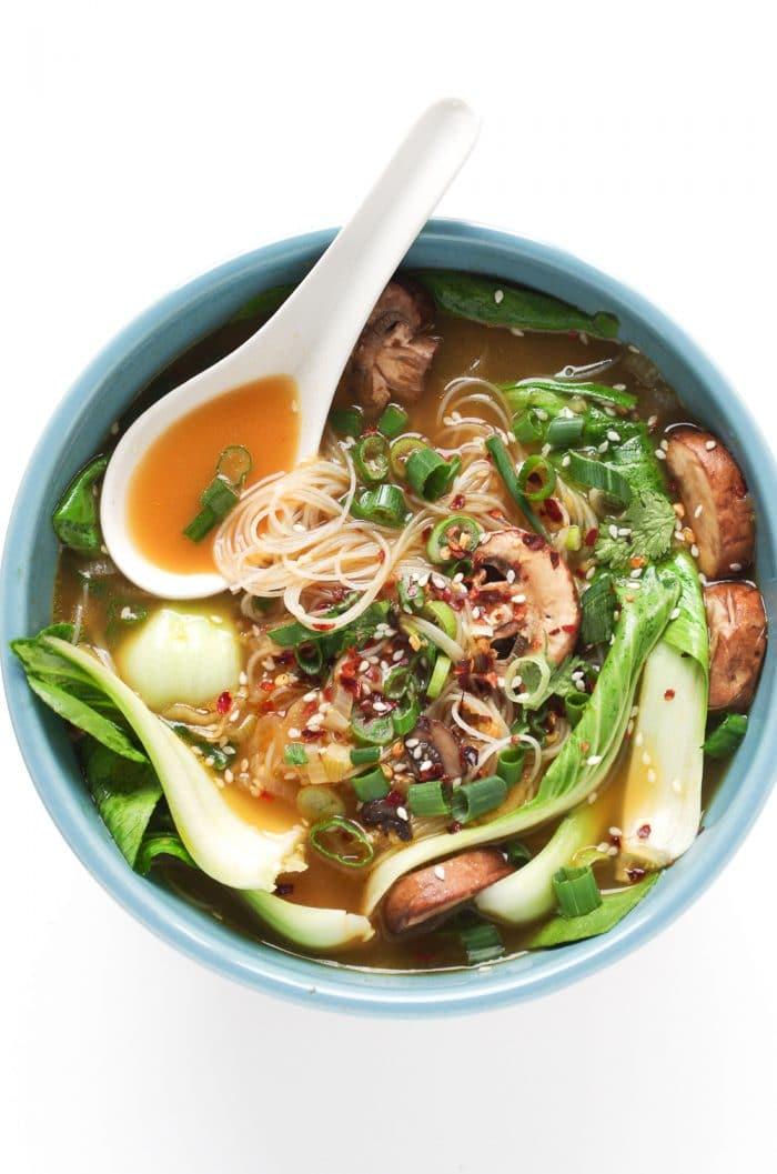 Ginger Noodle Soup with Bok Choy, Ramen soup recipes