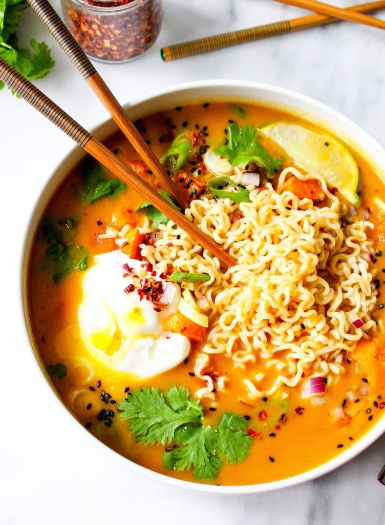 Pho Spiced Pumpkin Ramen, ramen soup recipe