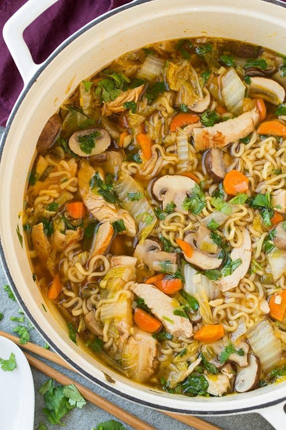 Asian Chicken Noodle Soup, ramen soup recipes