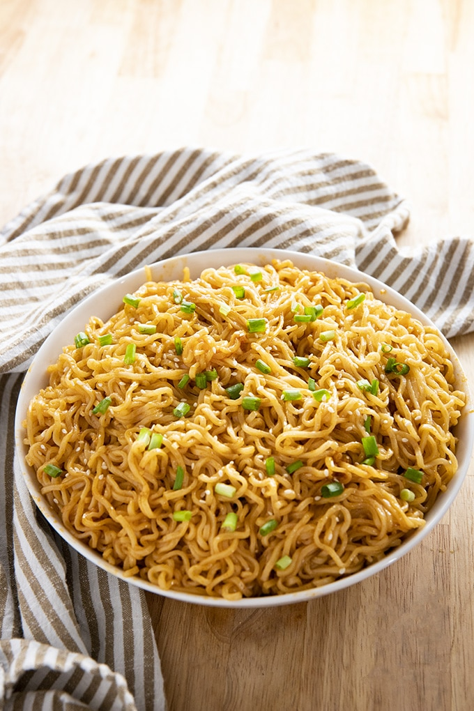 Sesame Garlic Ramen Noodles Recipe, ramen soup recipes