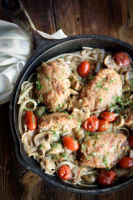 one pan stuffed chicken marsala