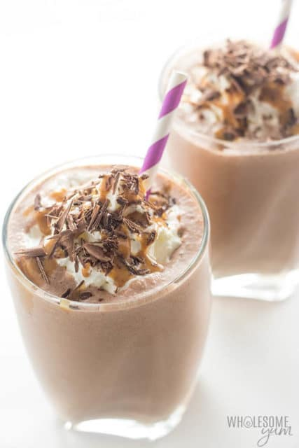 Healthy Chocolate Peanut Butter Low Carb Smoothie Recipes