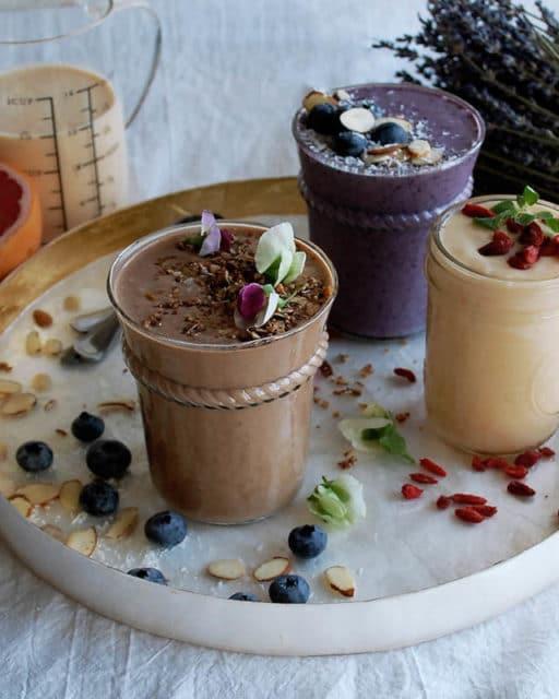 breakfast smoothie 3 ways