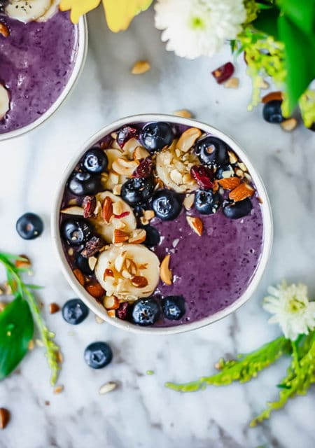 Maca blueberry protein smoothie recipe