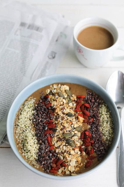 Banana Protein Smoothie Bowl with Hemp and Cacao