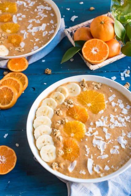 Orange Smoothie Bowls