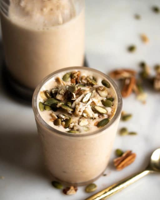 Thick and Creamy Maple Pumpkin Pecan Pie Smoothie Low Carb High Protein