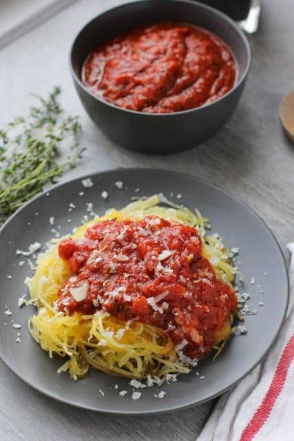 Spaghetti Squash Al Pomodoro Recipe