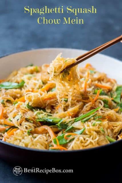 Spaghetti Squash Chow Mein Recipe
