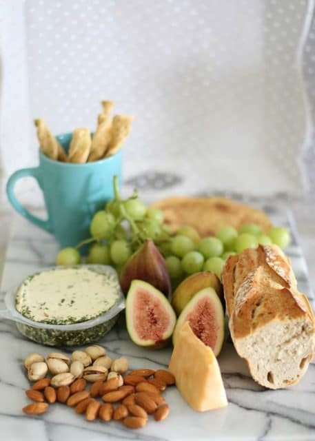 valentines's day cheese fig platter
