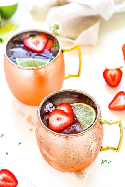 Strawberry Lime Moscow Mule
