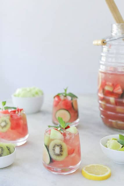 Watermelon and Honeydew Sangria Recipe