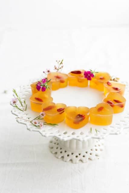 Chrysanthemum Goji Longan Jelly