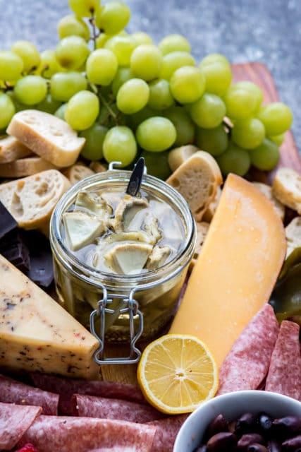 Quick Pickled Artichoke recipe, Ocean Mist Farms, cheese board recipe