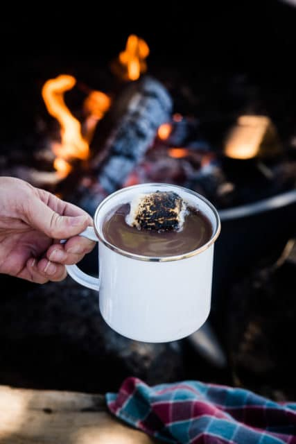 campfire red wine hot chocolate