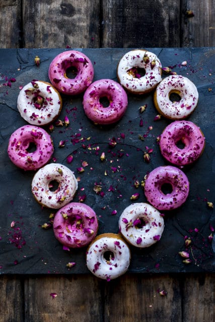 lemon rose doughnuts